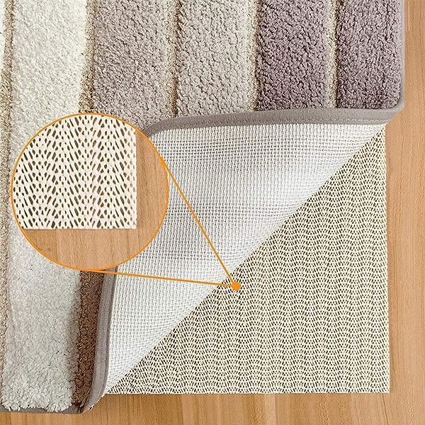 Non Slip Rug Pads For Hardwood Floors 2x10 Feet Rug Gripper For Carpeted Vinyl Tile Floors With Area Rugs Runner Anti Slip Skid Open Wave