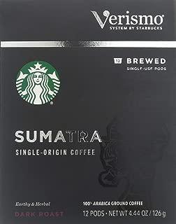 Starbucks Sumatra Brewed Coffee Verismo Pods (12 Count)