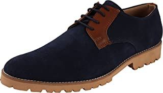 AUSERIO Men's Leather Derby Shoes