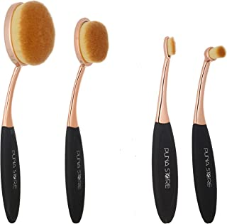 Puna Store® 4 Piece Oval Brush Set - Black/Gold
