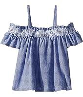 Striped Off Shoulder Top (Toddler/Little Kids/Big Kids)