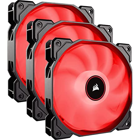 Corsair CO-9050083-WW Ventilateur LED ventilateur AF120-LED Low Noise Triple Pack - 120 mm Rouge