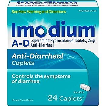 Imodium A-D Diarrhea Relief Caplets, Loperamide Hydrochloride, 24 ct