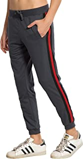 Alan Jones Clothing Men's Side Tape Cotton Slim Fit Joggers Track Pants
