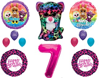Beanie Boos 7th Birthday Party Balloons Decoration TY Cheetah Animals
