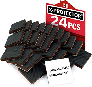 """X-PROTECTOR Furniture Grippers – Premium 24 pcs 2"""" Furniture Pads – Floor Protectors for Furniture Legs. Best Non Slip Pad Rubber Feet – Stop Your Furniture with Anti Slip Floor Pads!"""