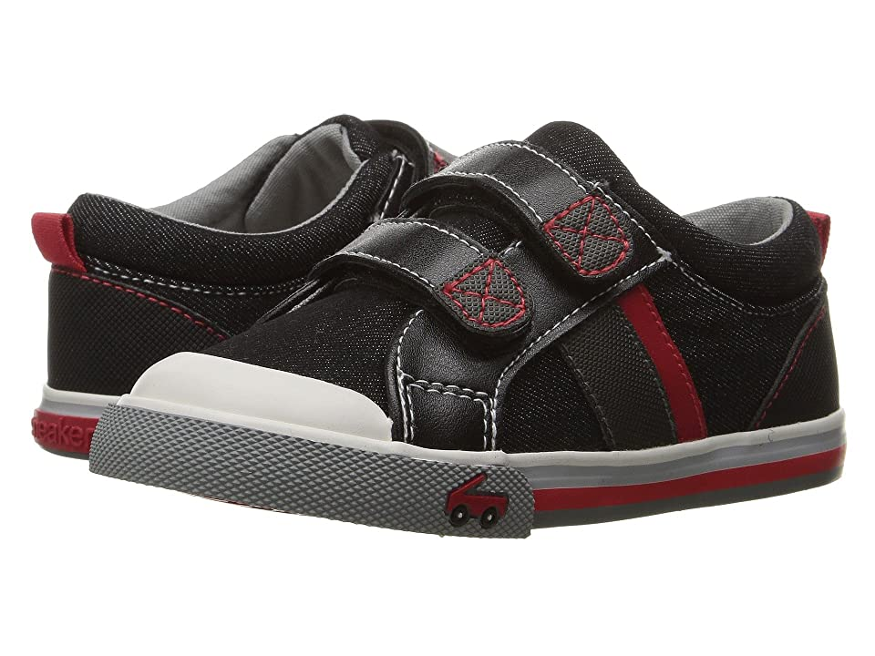 See Kai Run Kids Russell (Toddler) (Black Denim) Boys Shoes