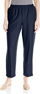 Alfred Dunner All Around Elastic Waist Polyester Short Petite Pants - Pull-On Style