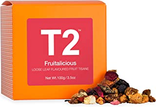T2 Tea - Fruitalicious Fruit Tisane, Loose Leaf Tea in Box, 100g (3.5oz)
