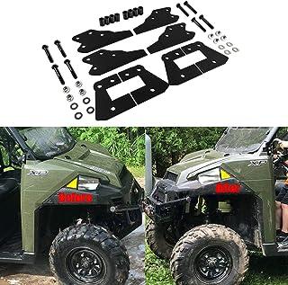 """E-cowlboy 3"""" Front 3"""" Rear Lift Kit for Polaris Ranger 570/XP 900/XP 900 CREW/XP 1000 UTV Full Lift Kit Black Steel"""