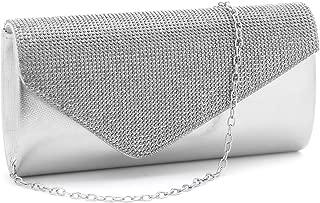 Sparkly Rhinestone Purse Crystal-Studded Clutch Evening Bag Wedding Party Prom Purse,Small.