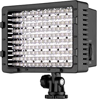 NEEWER CN-160 - Panel de luz LED regulable de 160 piezas para cámara de vídeo y digital SLR  Canon Nikon Pentax Panasonic Sony Samsung y Olympus