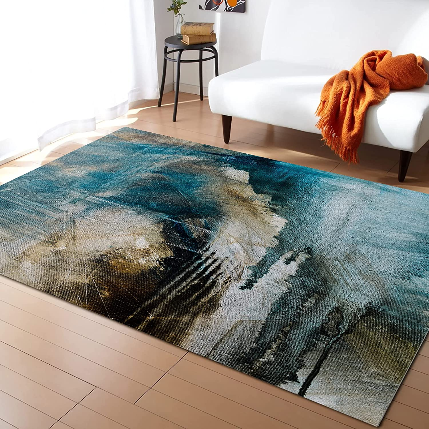 COLORSUM Area Rug Max 77% OFF Challenge the lowest price Non-Slip Indoor Soft Painting Abstract Art Col