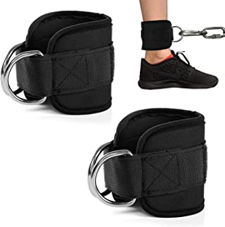 Zrova Ankle Straps for Cable Machines, Fitness Padded...