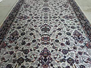 Ali Carpet High Density Export Quality Iran Design Classical Persian Silk Touch Carpet for Your Hall & Living Room 8 X 11 Feet (240x330 cm) Ivory Multi