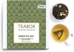 Teabox Green Tea Sampler Gift Box (4 Varieties) - Pack of 16 Bags