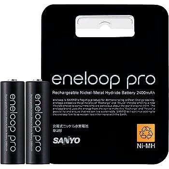 SANYO 充電式ニッケル水素電池 eneloop pro 単3形2本 HR-3UWX-2BP