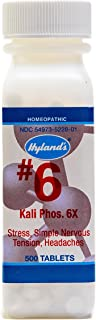 Hyland's #6 Kali Phos 6X Cell Salt Tablets, Natural Relief of Stress, Headaches, Insomnia, and Simple Nervous Tension, 500 Count