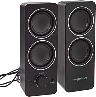 Amazon Basics AC Powered PC Multimedia External Speakers