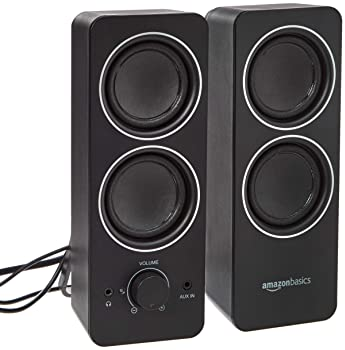 AmazonBasics AC Powered PC Multimedia External Speakers