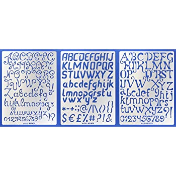 Abc//Stainless St Aleks Melnyk #34 Metal Journal Stencils//Alphabet Letter Number
