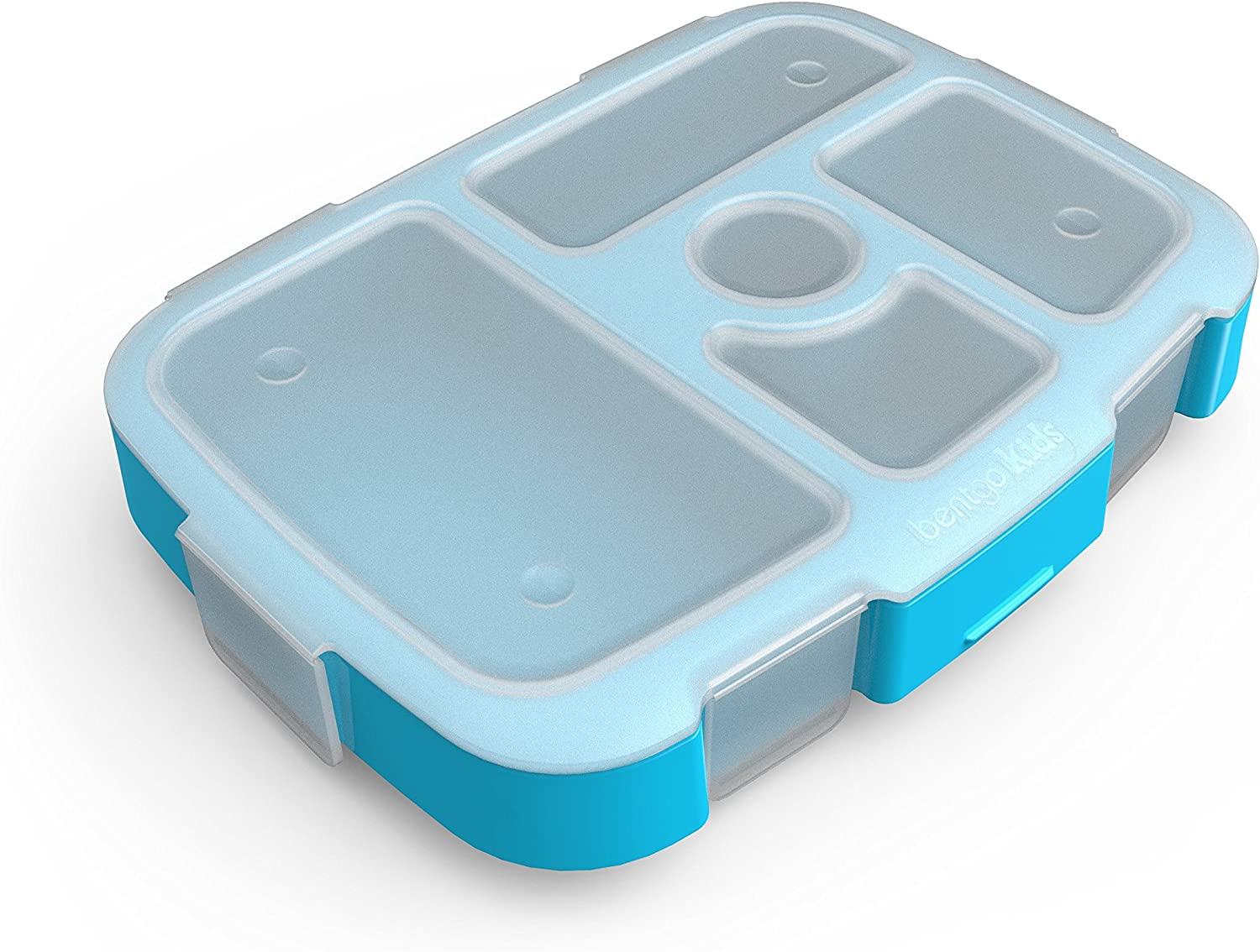 Bentgo Kids Brights Tray (Turquoise) with Transparent Cover - Re