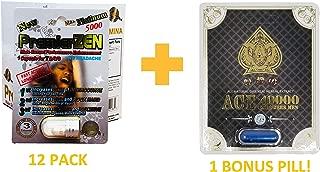 PremierZen Platinum 5000 (12 Pack) Male Sexual Performance Enhancing Pill + Bonus Royal Ace 40000