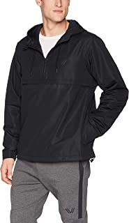 Amazon Brand - Peak Velocity Men's Zephyr Windbreaker Loose-Fit Anorak Jacket