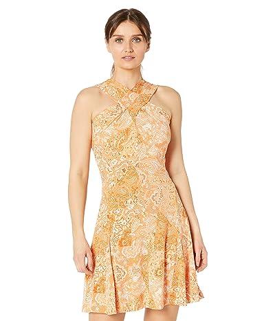 MICHAEL Michael Kors Petite Arabesque Paisley Cross Neck Dress Women