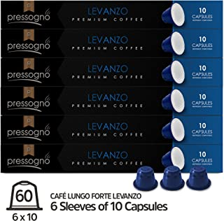 PRESSOGNO Nespresso Compatible Lungo Coffee Capsules 60 Pack (OriginalLine) - Italian Premium Café Lungo - Fair Trade