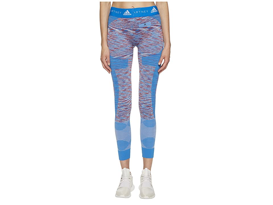 adidas by Stella McCartney Yoga Seamless Tights Space Dye CF4128 (White/Dark Callisto/Blue) Women