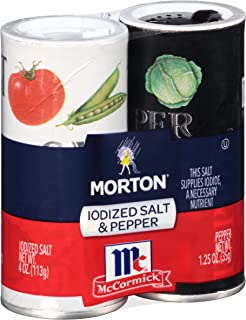 Morton McCormick Iodized Salt & Pepper, Shaker Set