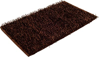 Gözze 1012-72-72 Rug Woollen Yarn in Metallic Look Shaggy High-Pile Finish 70 x 120 cm Ökotex Cotton Brown