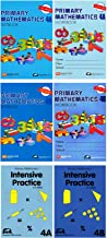 Singapore Math Primary Mathematics Grade 4 Intensive SET (6 Books) --Textbooks 4A and 4B, Workbooks 4A and 4B, Intensive Practice 4A and 4B (US Edition)