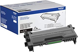 Brother Genuine Toner Cartridge, TN820, Replacement Black Toner, Page Yield Up To 3,000 Pages, Amazon Dash Replenishment C...
