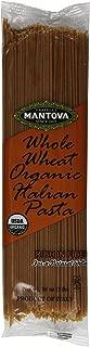 Mantova Italian Organic Whole Wheat Spaghetti Pasta - 100% Durum Semolina Organic Whole Wheat Spaghetti - 16 Oz (Pack Of 10) - Product Of Italy
