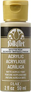 FolkArt Acrylic Paint in Assorted Colors (2 oz), 939, Butter Pecan