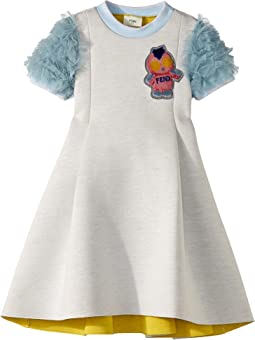Fendi Kids - Ruffle Sleeves Dress w/ Fendirumi Detail (Little Kids)