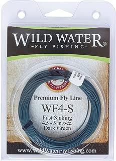 Wild Water Weight Forward 4-Weight Dark Green Fast Sinking Fly Fishing Line, 90 feet