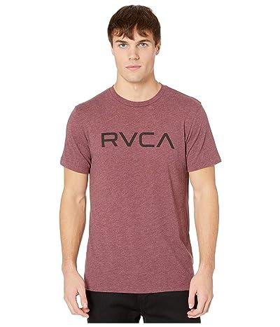 RVCA Big RVCA T-Shirt Shot Sleeve (Oxblood Red) Men
