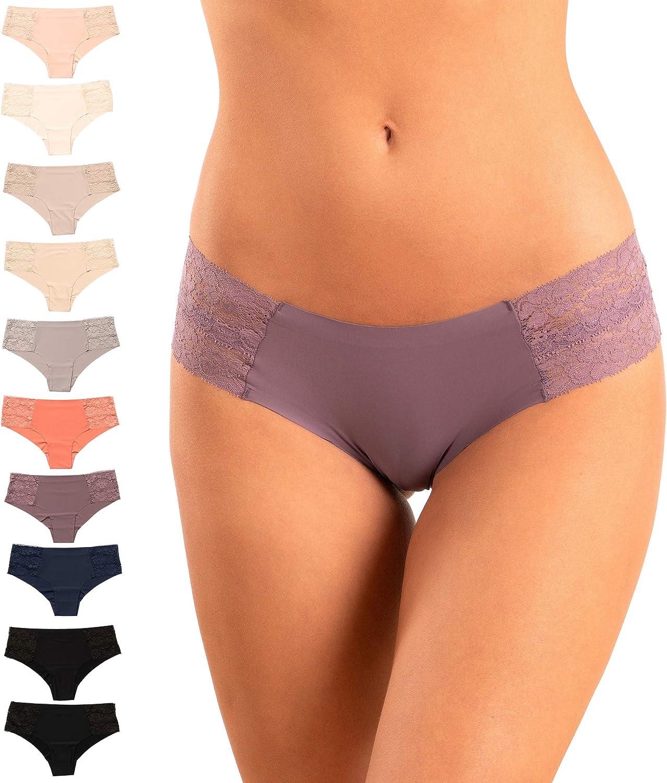 Pretty Sweet Basics Women's Laser Cut Bikini Cheeky Hipster Panties, Pack of 10 at  Women's Clothing store