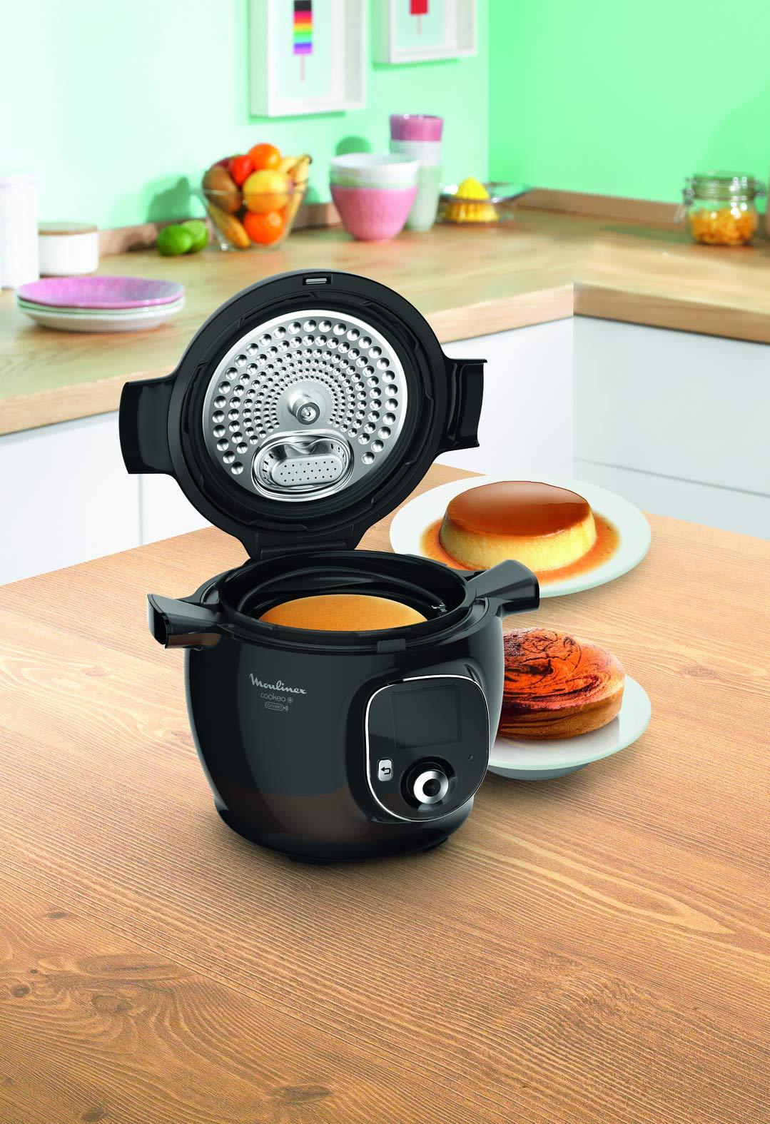 Moulinex CE704110 - Olla inteligente Cookeo Molde para tarta Negro: Amazon.es: Hogar