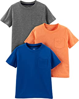 Simple Joys by Carter's Toddler Boys' 3-Pack Solid Pocket Short-Sleeve Tee Shirts