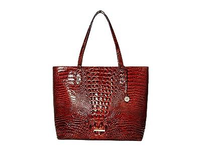 Brahmin Melbourne Misha Tote (Pecan) Tote Handbags