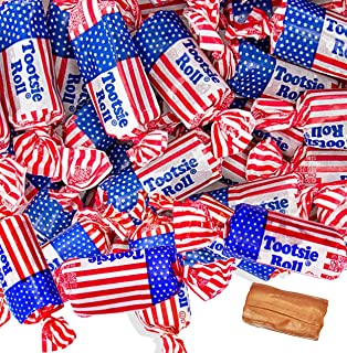 Tootsie Rolls – Patriotic Candy – Red White and Blue Candy – Red Candy - Bulk Candy – Perfect for Fourth of July - 3 Pounds