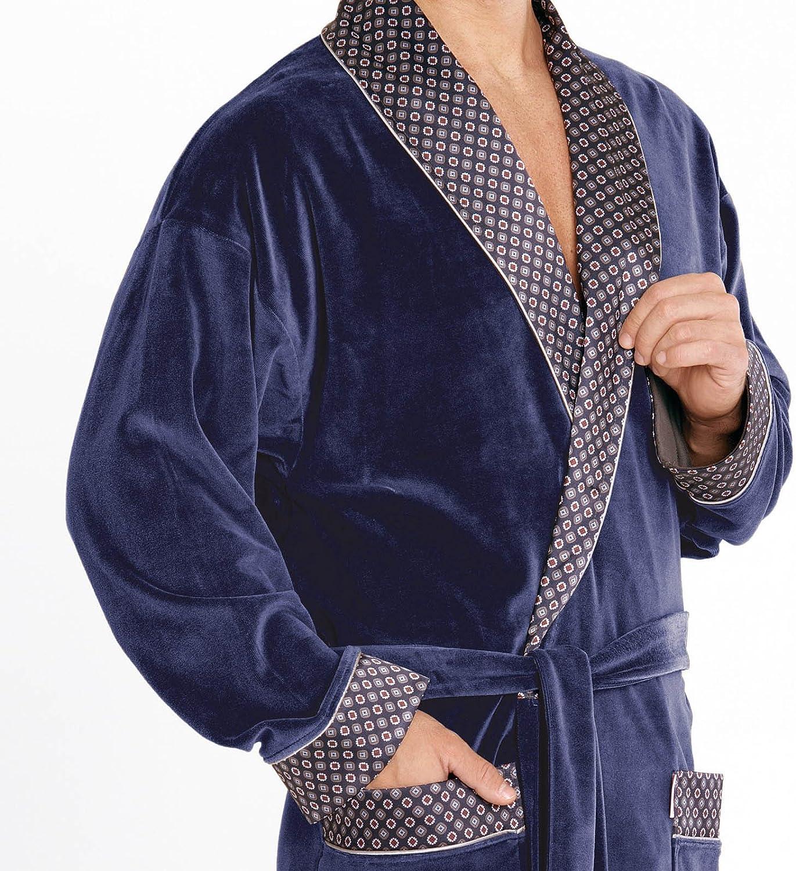 FOREX Lingerie Peignoir//Robe de Chambre Haut de Gamme pour Homme en Coton fabriqu/é dans lUE
