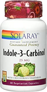 Solaray Indole-3-Carbinol w/Cruciferous Vegetables, Veg Cap (Btl-Plastic) 25mg   30ct