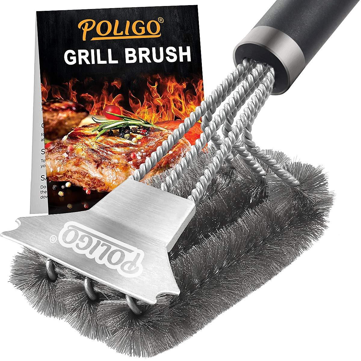 POLIGO Grill Scraper Deluxe Handle