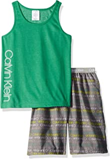 Calvin Klein Boys' Kids 2 Piece Sleepwear Top and Bottom Pajama Set