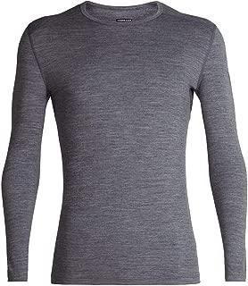 Icebreaker Merino Men's Oasis Year-Round Base Layer Long Sleeve Crew Neck Shirt, Merino Wool